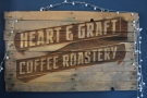 Talking about the roastery, there's a neat sign on the back wall.