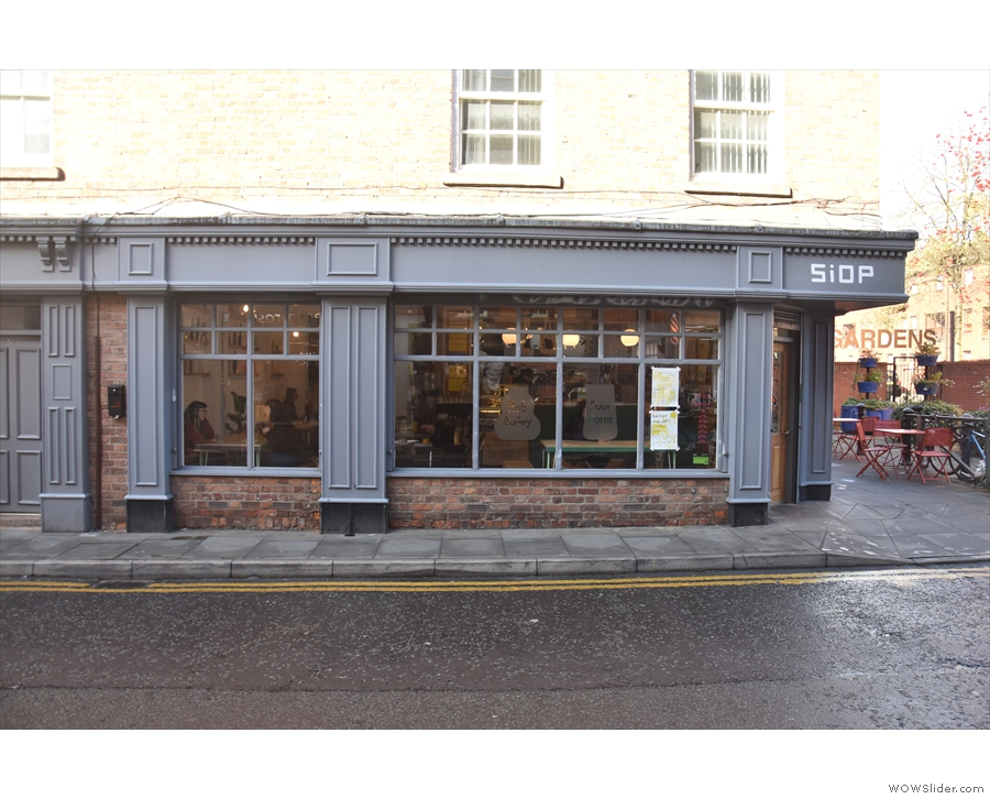 ... you'll find the delightfully-named Siop Shop. This is the Tib Street side...