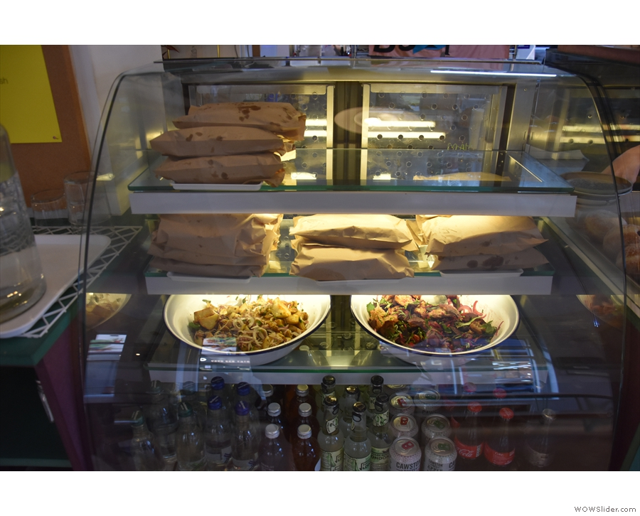 As well as doughnuts, there are full breakfast and lunch menus, plus sandwiches/salads.
