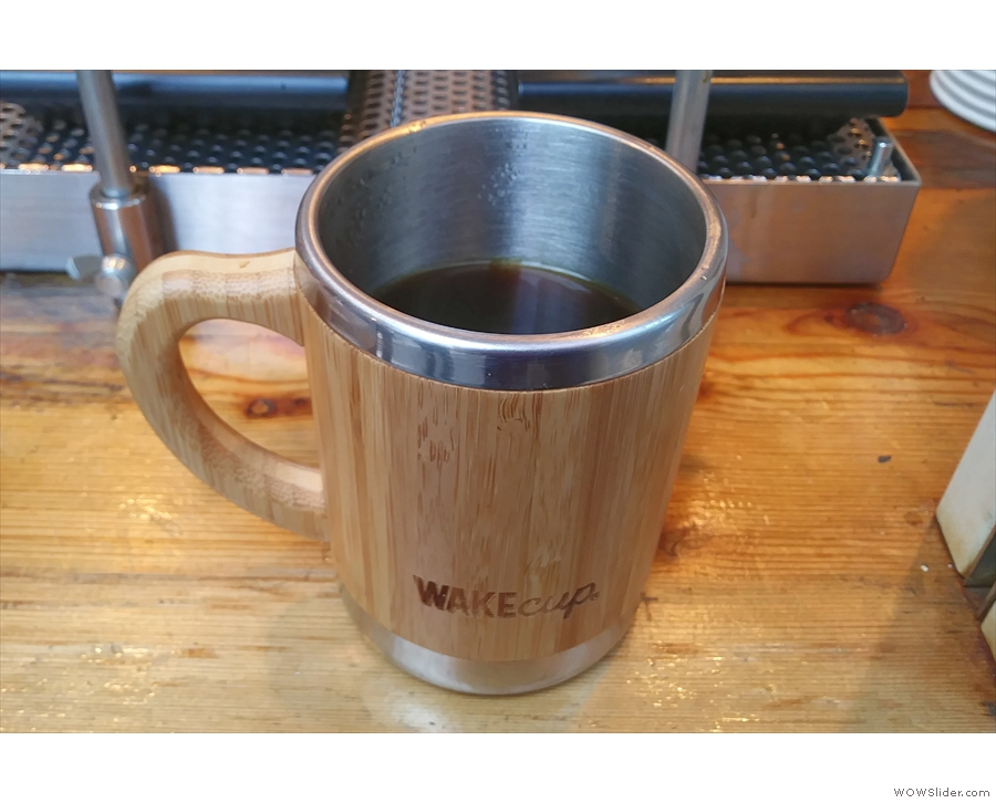The Global WAKEcup is just as good for filter coffee, either drunk there and then...