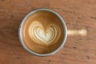 ... which proved that you can do perfectly good latte art in a Global WAKEcup.
