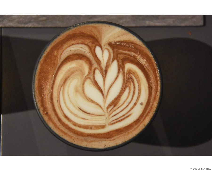 Check out that gorgeous latte art!