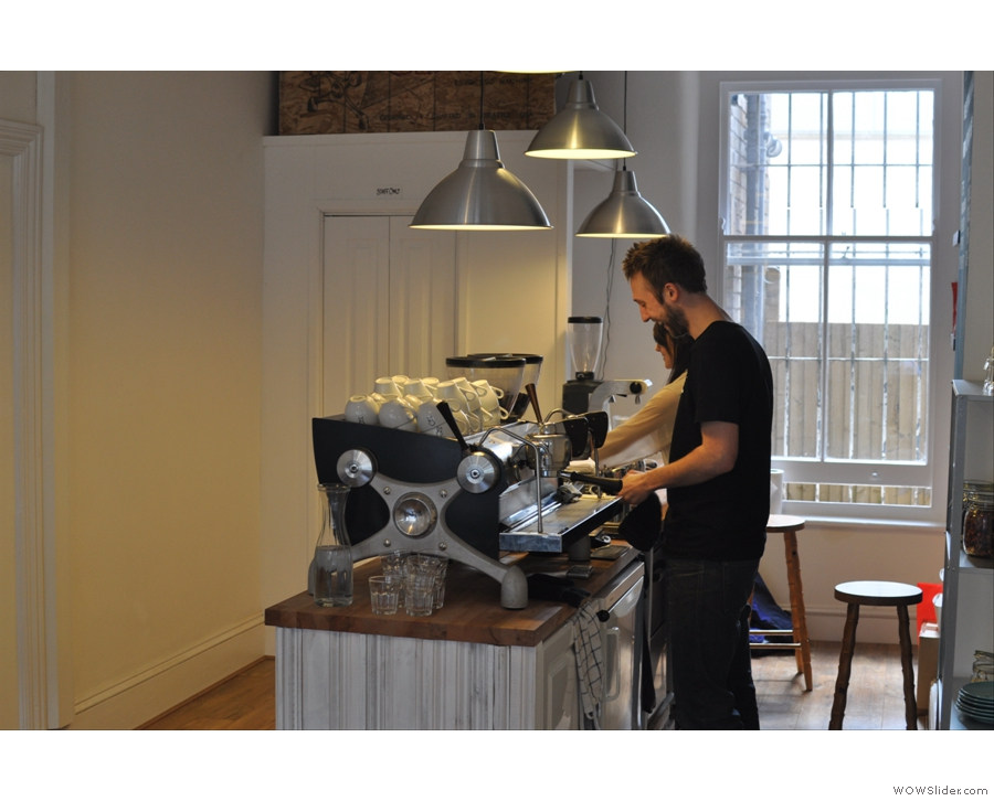 Back in Bristol, Will & Ally enjoy themselves on their beautiful Slayer espresso machine
