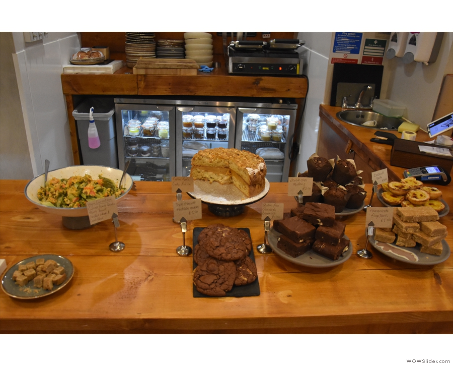 ... and a wide selection of cake.