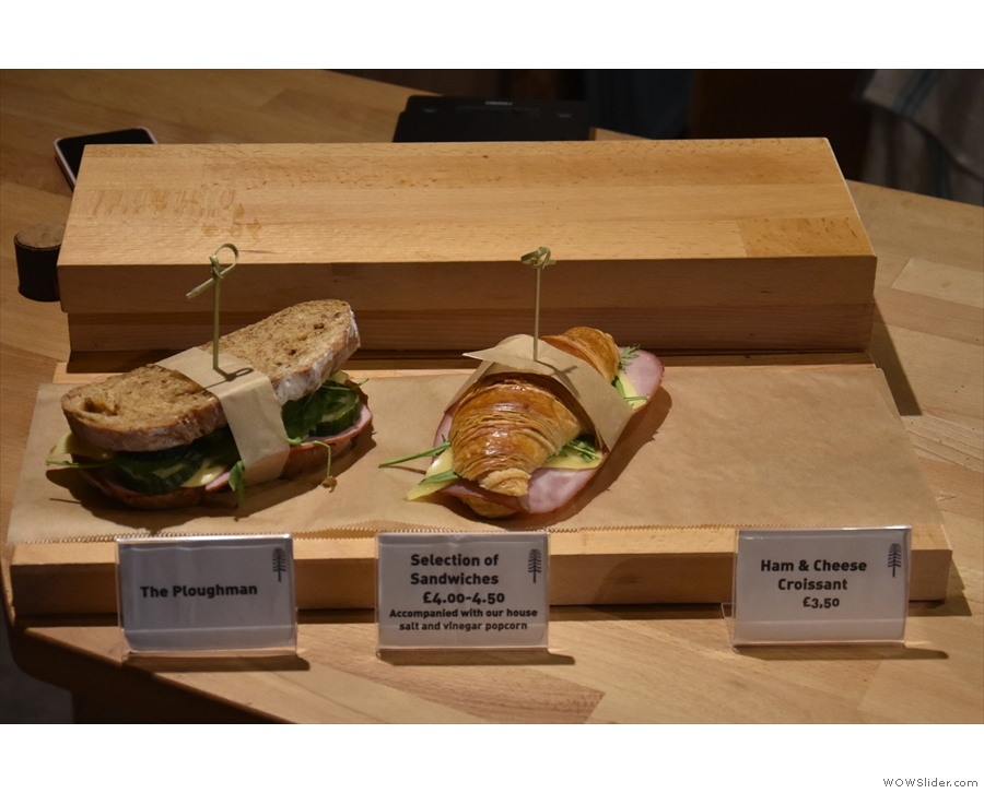 There is also a small sandwich selection if you want something more savoury.