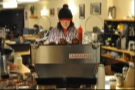 Warning! Barista at work. In this case, it's Colin of Montreal's Resonance!