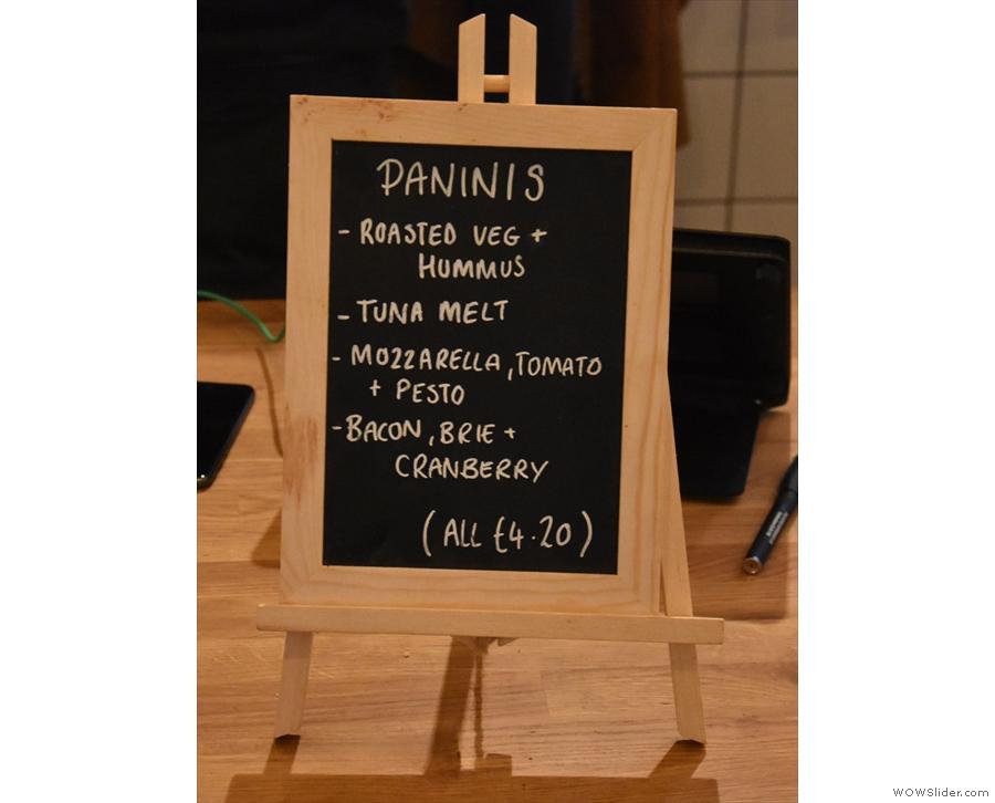... where you'll find the panini menu...