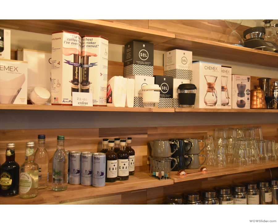 ... where you'll find lots of coffee-related kit...