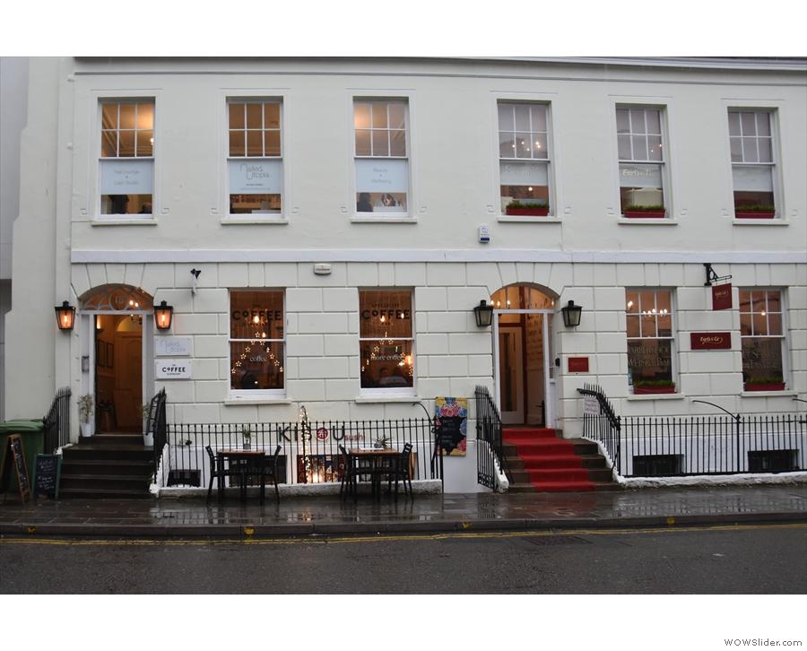 The Coffee Dispensary on Regent Street in the heart of Cheltenham.