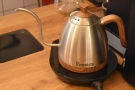 ... and kettle for the pour-over, above which...