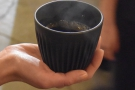 ... coffee husks. A coffee cup made from coffee!