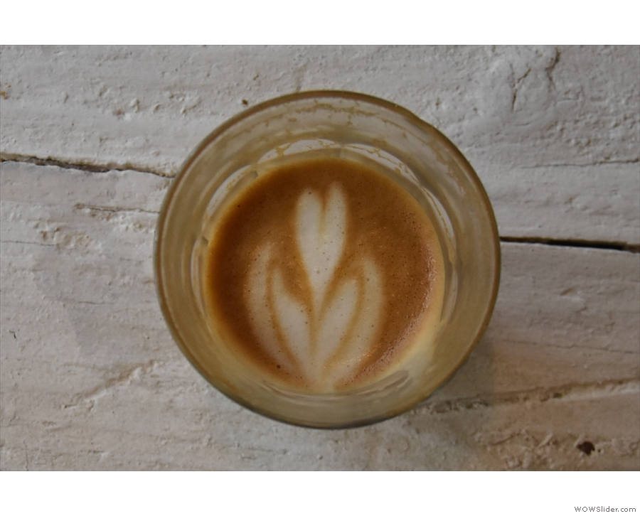 Awesome lasting power in the latte art by the way...