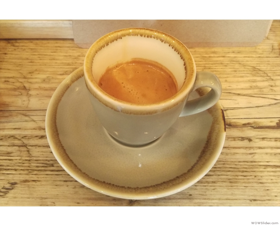 I popped back a few days later for an espresso, made with the Holmbury Hill blend...