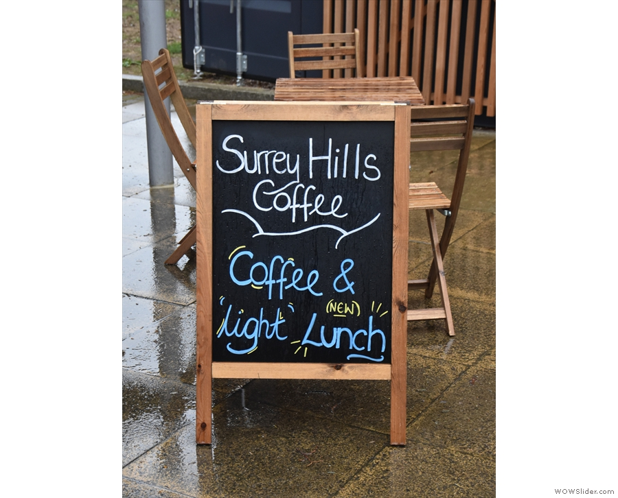 ... and home to the second branch of Surrey Hills Coffee.