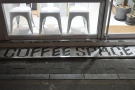 It says 'Coffee Space' on the tiles. The best sort of space there is, really!
