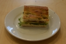 I'll leave you with my lunch, a very fine Edam sandwich on focaccia.
