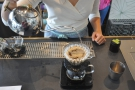 ... before the second pour fills the Kalita Wave back up again.