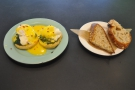 I returned for breakfast the following morning and had the Eggs Florentine.