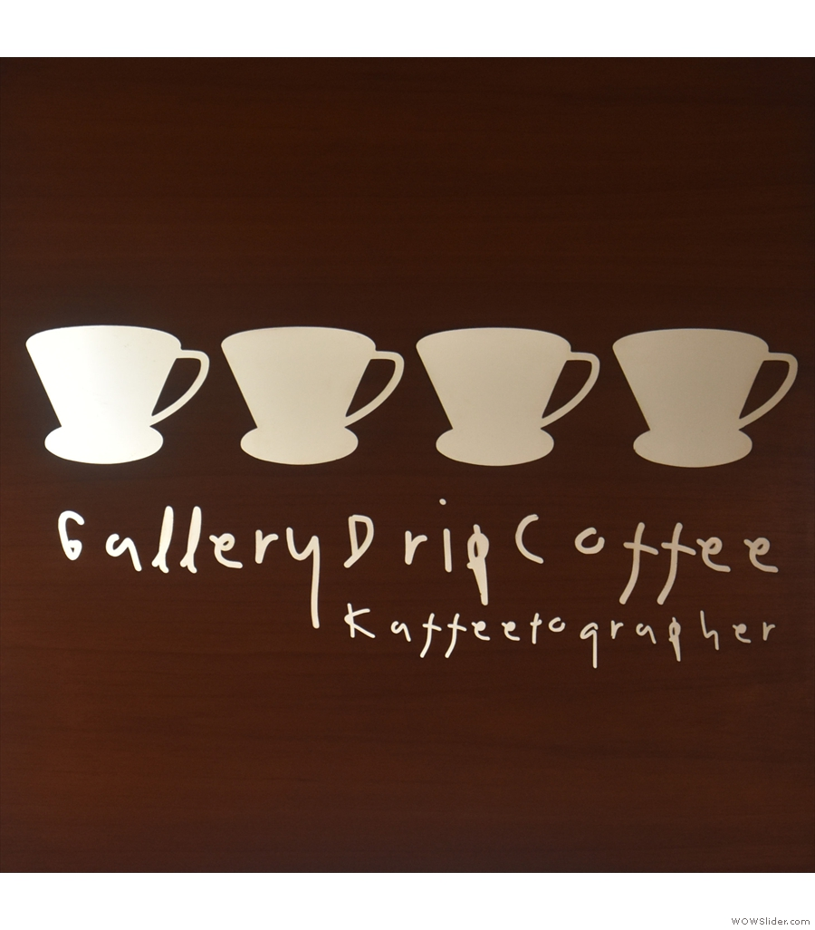 The well-named Gallery Drip Coffee, located inside the Bangkok Art and Cultural Centre.