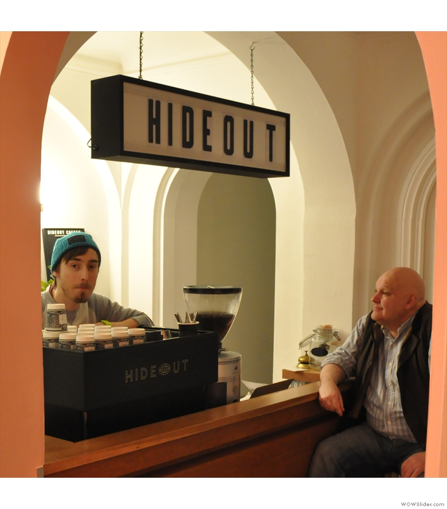The well-named Hideout Coffee takes some finding down in Portsmouth.