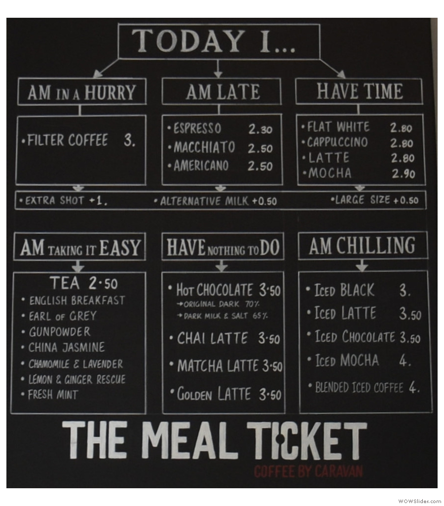 The Meal Ticket kept me going when I was in Sheldon Square for a week-long meeting.