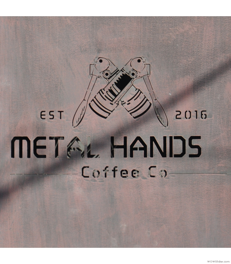 Metal Hands Coffee Co in Beijing, very on-point with its lighting.
