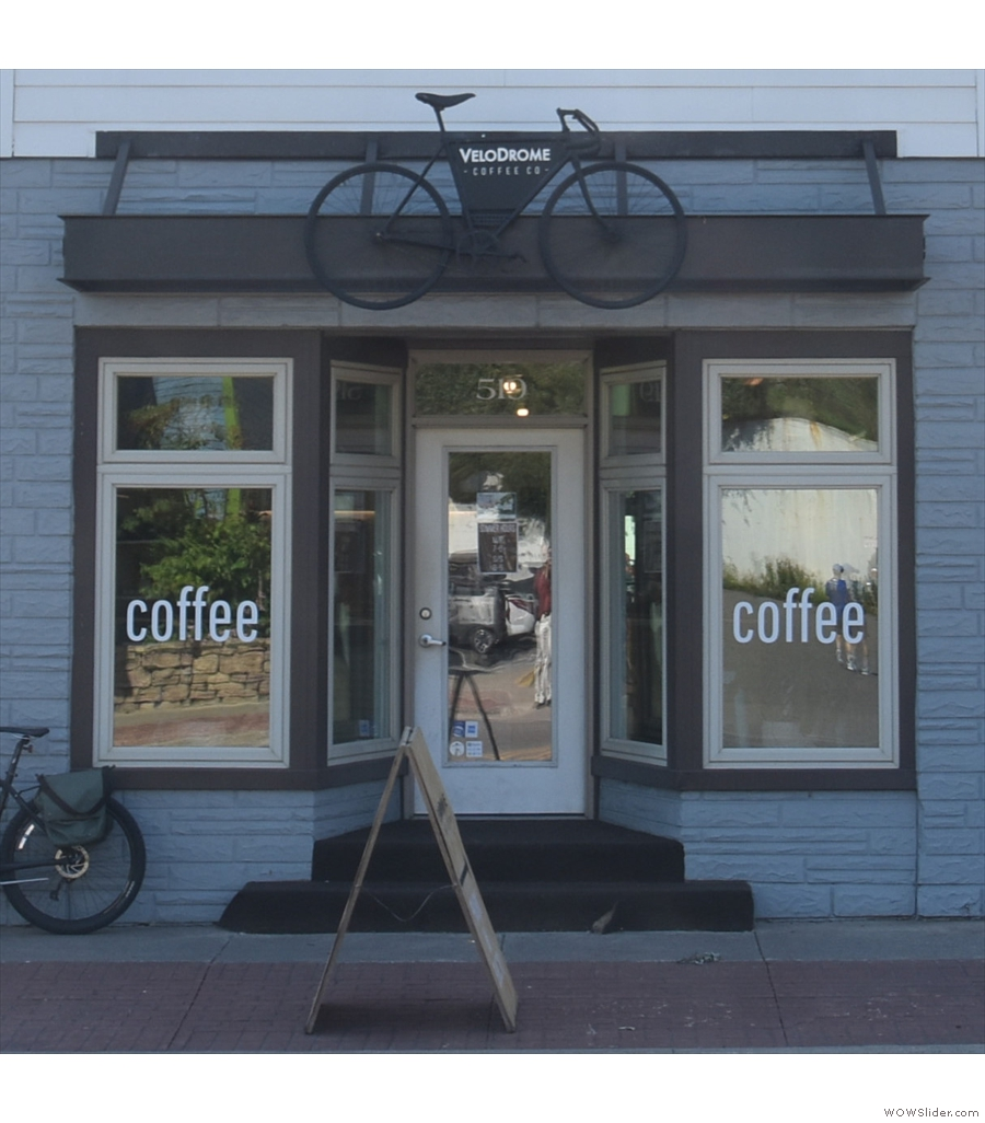 Velodrome Coffee Co, lighting it up on the southern shores of Lake Superior.