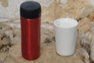 Reusable Cups, A Year On: here my Travel Press & Therma Cup admire the views.