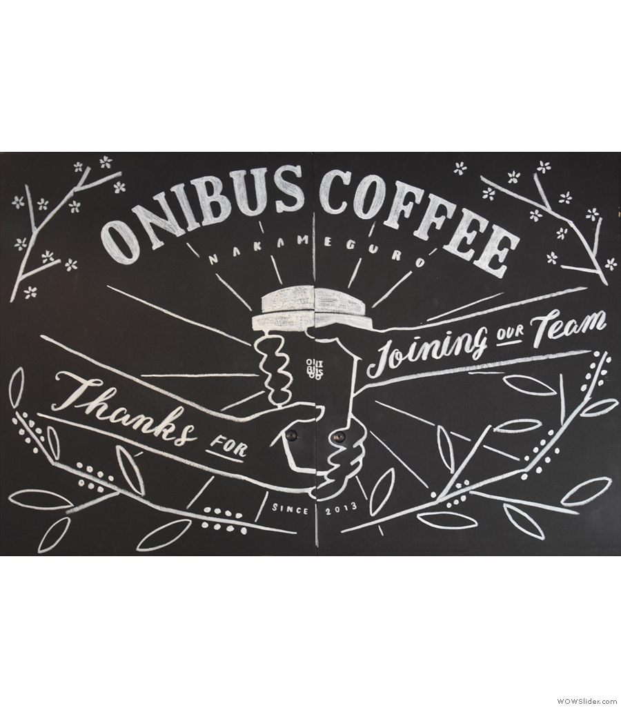 Onibus Coffee, Nakameguro, a coffee shop and roastery in an unfeasibly small spot.