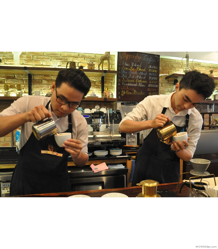 Shin Coffee, Nguyễn Thiệp, the first of two branches of Shin Coffee on this shortlist.