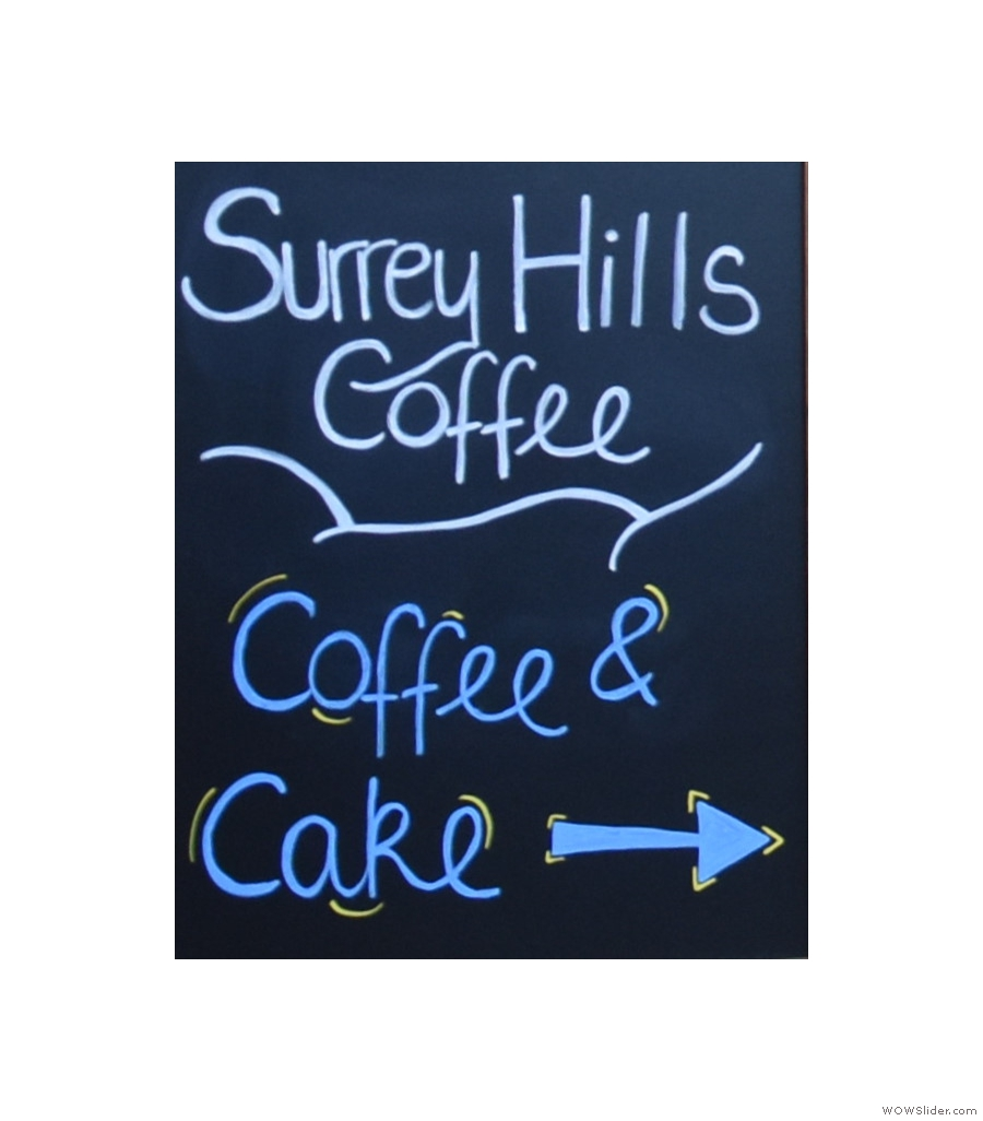 Surrey Hills Coffee, Jeffries Passage, keeping smiling despite this summer's move.