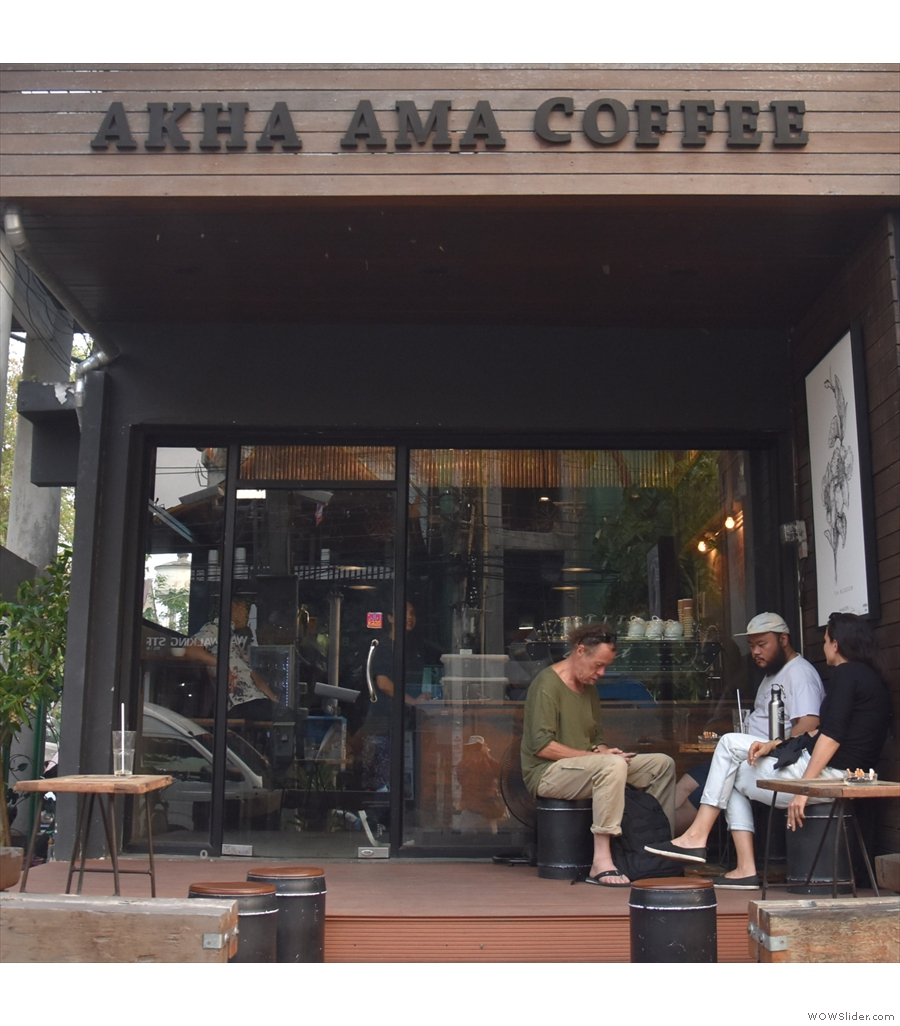 Akha Ama Coffee La Fattoria is another social enterprise, this time in Chiang Mai, Thailand.