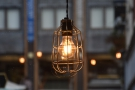 There are lots of lovely light bulbs in metal cages downstairs...