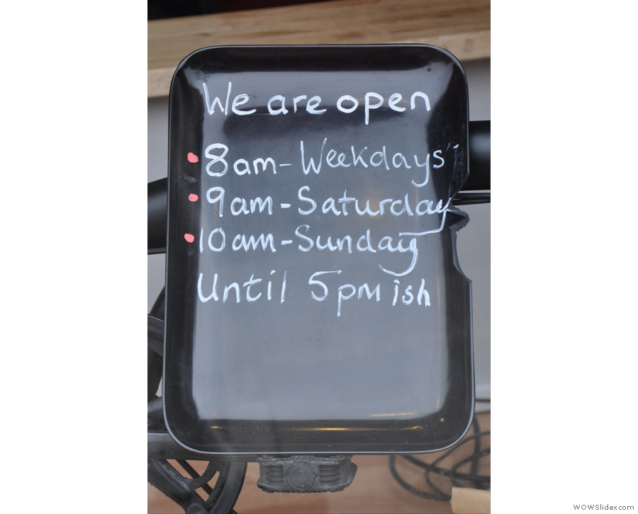 I leave you with the opening hours which tells me all I need to know :-)