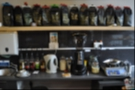 Behind the counter is the array of coffee. Note the carefully placed Coffee Spot card. That wasn't me, honest!
