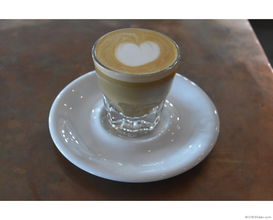 ... while in March that year I had a decaf cortado...