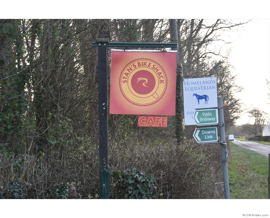 It's well signposted, so there's no excuse for missing it. And it's right on the Downs Link.