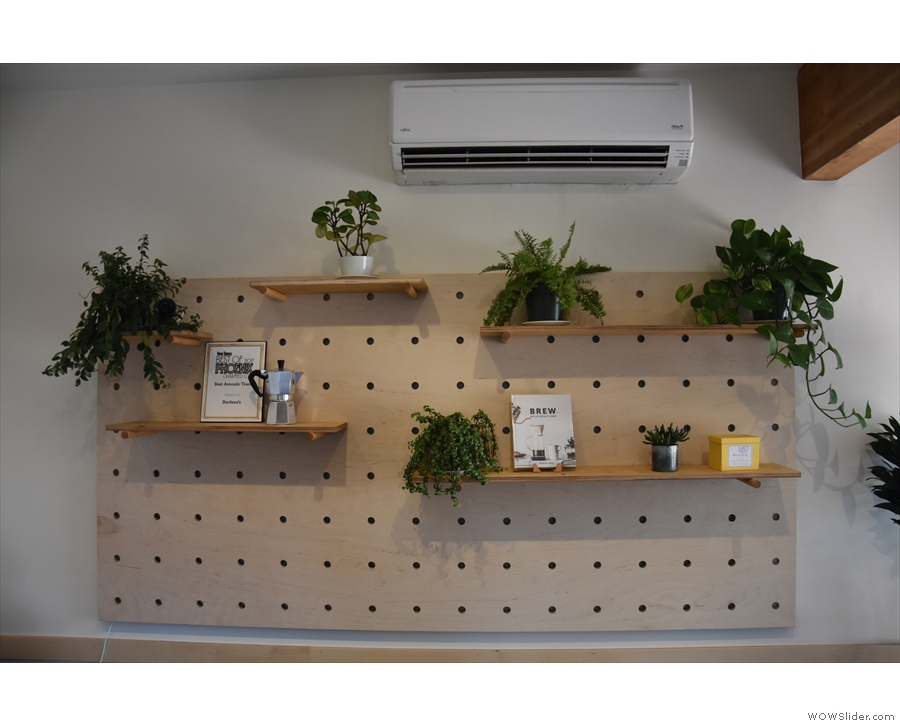 Not much else has changed, decor-wise. These were the shelves on the far wall last year.