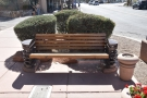 If you want to sit in the sun, this is one of two benches out by the tree.
