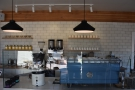 Down to business. The heart of the operation is this three-group Synesso...