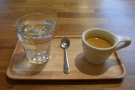 Once again, I tried the espresso, this time a Usulatan from El Salvador.