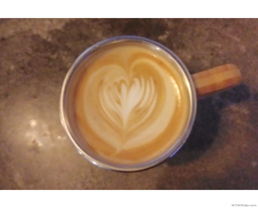 ... this time in my Global WAKEcup and again with more excellent latte art.