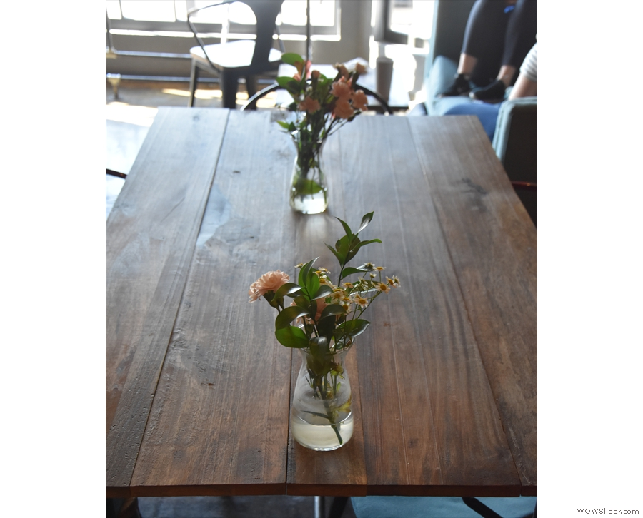 I particularly liked the flowers on the tables...