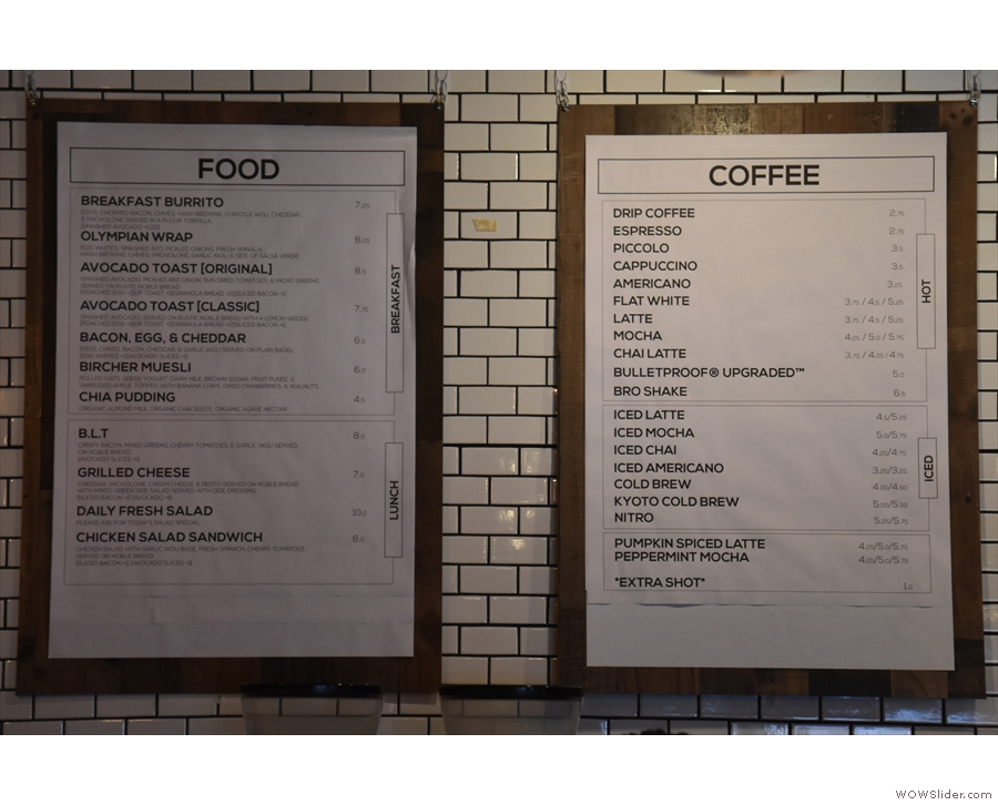 I was particularly taken by the concise breakfast and lunch menus.