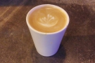 I was back the following day for a flat white to go in my Therma Cup...