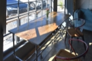 I love the way that the light from the west-facing window catches the table.