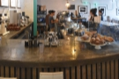 The final seating in the front is on the left-hand end of the counter next to the pour-over.