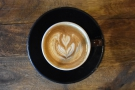 ... which had some lovely latte art...