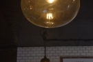 These globes, meanwhile, hang above the counter.