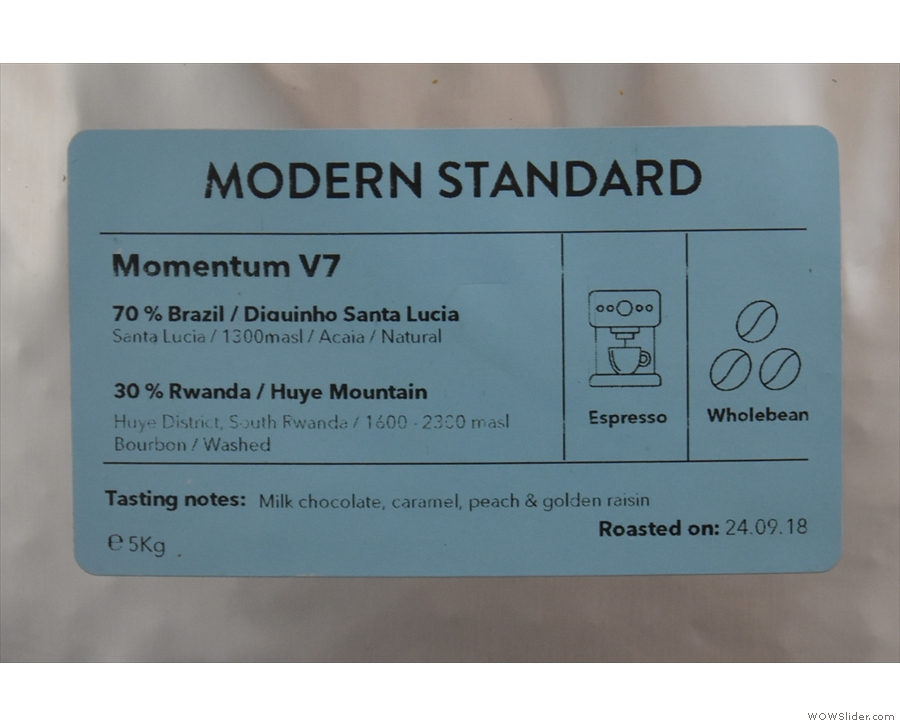 ... and the Momentum blend on espresso, both from Modern Standard.